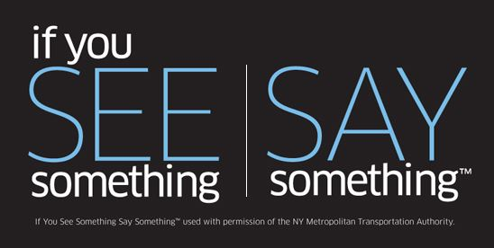 if you see something say something logo