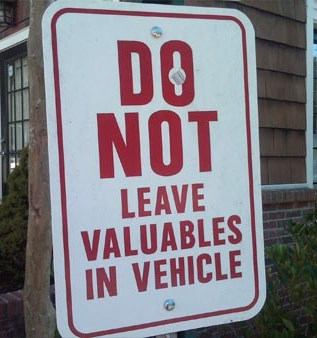 Vehicle Theft Sign 1